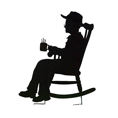 Charming Rocking Shadow Figure Grandpa