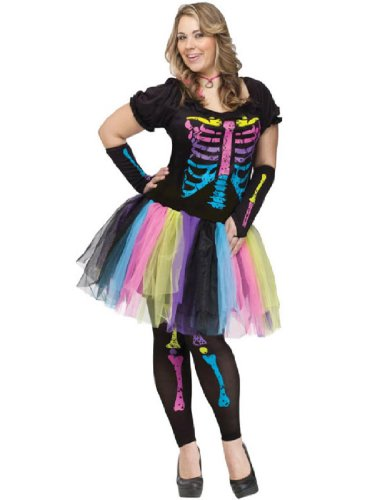 [Funky Punk Bones Plus Size Costume] (Funky Halloween Costumes)