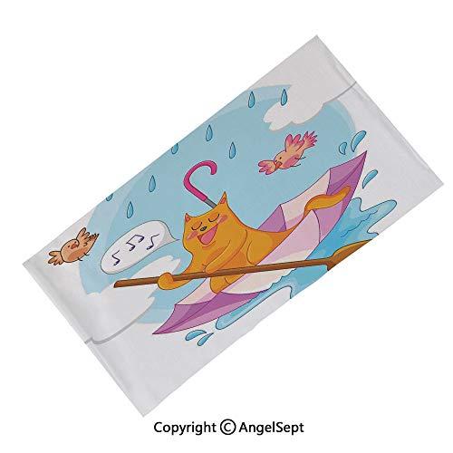 AngelScarf Outdoor Multifunctional Sports Magic Scarf,Chevron Zigzags Herringbone Pattern with Vintage Worn Look Design Decorative Seafoam Yellow Brown,High Elastic Headband with UV Resistance ()