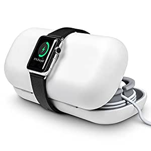 Twelve South TimePorter for Apple Watch, white | Apple Watch accessory travel case + bedside charging stand