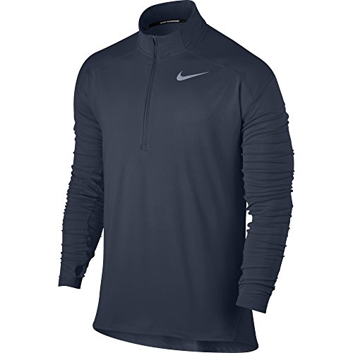 Nike Men's Dry Element Running Top Thunder Blue/Heather Size Small by Nike (Image #1)