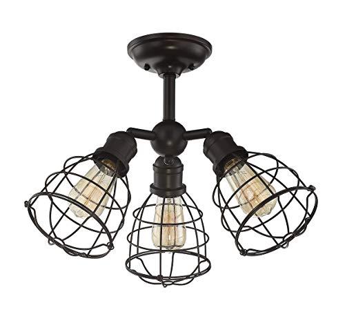 - Savoy House 6-4136-3-13, Scout 3-Light Adjustable Semi-Flush in English Bronze