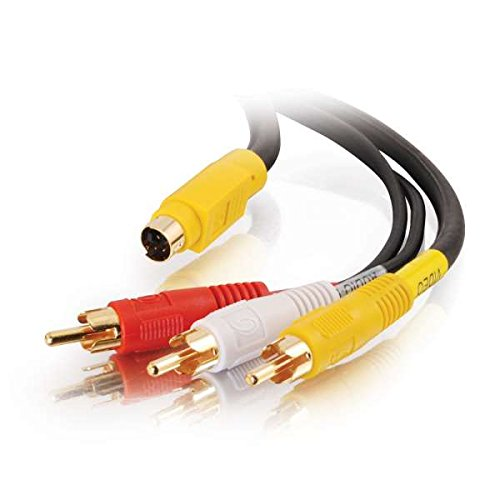 C2G 29155 Value Series 4-in-1 RCA + S-Video Cable, Black (25 Feet, 7.62 Meters) by C2G