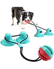 Dog Suction Rope Toy, Toothbrush Molar Stick Chew Toy with 2 Suction Cups