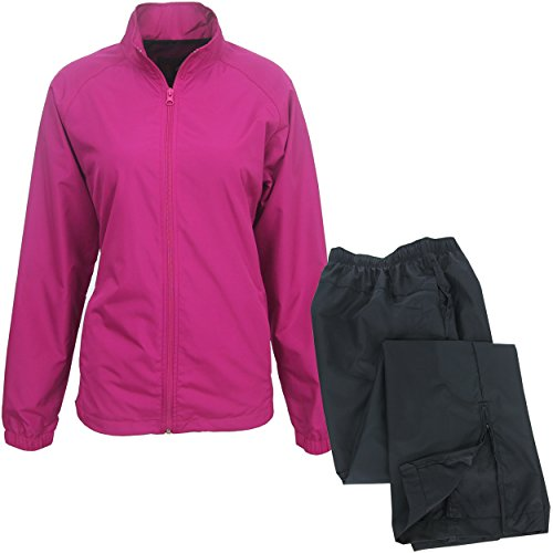 Forrester Women's Packable Breathable Waterproof Golf Rain Suit, Small Fuchsia (Mesh Golf Pouch)