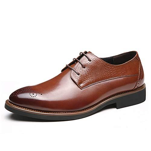 WFL Estate scarpe da uomo scarpe da uomo d'affari a punta di usura degli uomini neri scarpe casual da uomo marea Marrone