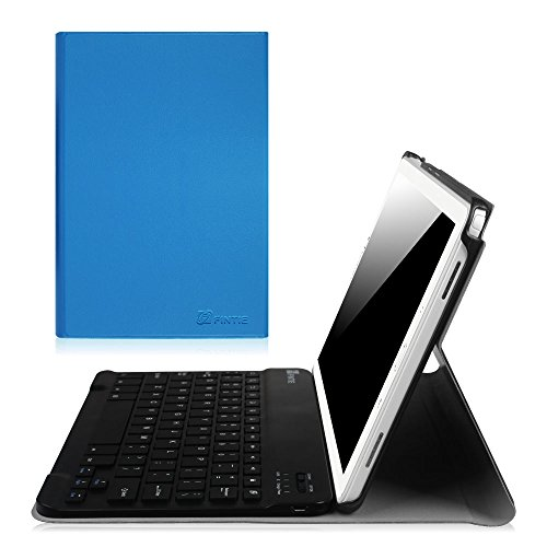 Fintie Keyboard Case for Samsung Galaxy Tab A 10.1 S Pen Version, Slim Shell Light Weight Stand Cover with Detachable Wireless Bluetooth Keyboard for Tab A 10.1 S Pen Version (SM-P580/P585), Blue