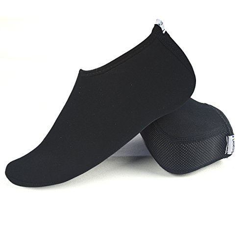Layatone Water Socks Men Women Beach Socks 2.5mm Neoprene Anti Slip Diving Socks for Adult Kayaking Snorkeling Swimming Socks Boating Socks Yoga Neoprene Socks Water Sports Socks(Black,US5-10)