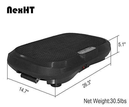NexHT Fitness Vibration Platform Whole Body Shape Exercise Machine(89011A),Vibration Plate,Fit Massage Workout Trainer with Two Resistance Bands &Remote Controller,Max User Weight 330lbs.Black by NexHT (Image #2)