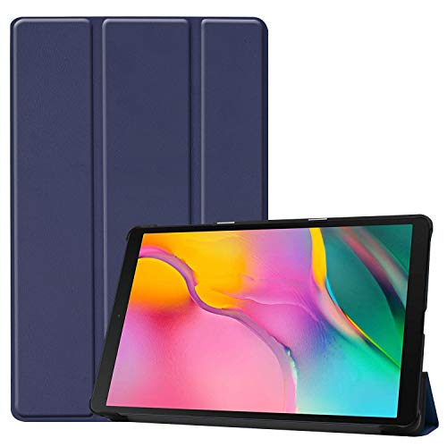 Robustrion Smart Trifold Hard Back Flip Stand Case for Samsung Tab A 10.1 2019 Tablet SM-T510/SM-T515 10.1 inch 2019 Release – Navy
