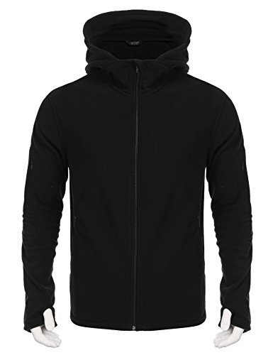 Hot Coofandy Mens Softshell Tactical Hoodie Outdoor Hooded Military Fleece Jacket for sale
