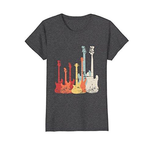 Womens Rock Band Guitar Retro Vintage T Shirt XL Dark Heather (Rock Womens Band)
