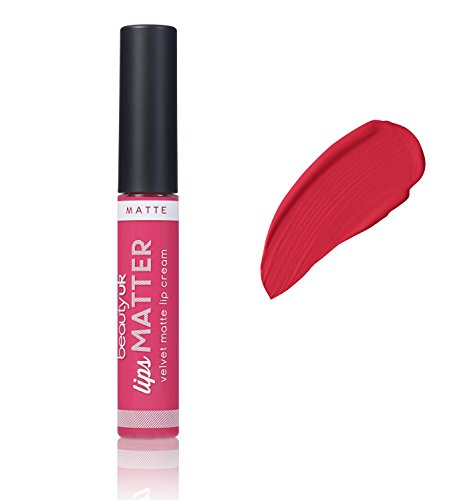 Beauty UK Long Lasting Matte Cream Lipstick - Lips Matter - No.5 Wham Bam Thank You Jam (Best Matte Lipstick Uk)