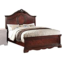 ACME Furniture Estrella 20727EK Eastern King Bed, Dark Cherry