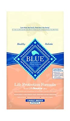 Blue Buffalo Large Breed Puppy Dry Food, Chicken and Rice Recipe