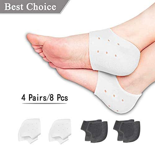 Plantar Fasciitis Inserts Pads,Gel Heel Cushion,Silicone Heel Protectors,Heel Guards & Heel Cups Great for Plantar Fasciitis,Cracked Heels, Achilles Tendinitis & Heel Sore, for Women & Men.
