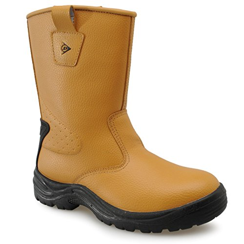 Dunlop Safety Rigger Safety Boots Heren Waterdicht Schoeisel Honey 9 (43)