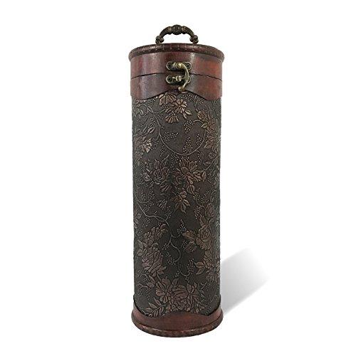 - Allgala Wooden Wine Bottle Box with Antique Finish