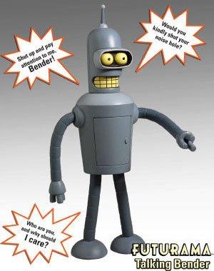 Toynami Futurama Talking Bender Figure from Toynami