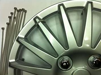 10 x Wheel Cap Covers Trims Secure Strong Cable Silver Ties Anti Theft Zip Ties: Amazon.es: Coche y moto