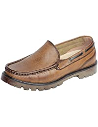 Men's Leather Casual Slip on Loafer Boat Shoes (Free)