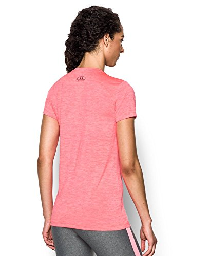 Under Armour Women's Tech Twist V-Neck, Brilliance/Metallic Silver, X-Small by Under Armour (Image #1)