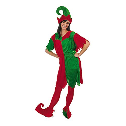 Fun Express - Complete Adult Female Elf Costume (4pc) for Christmas - Apparel Accessories - Costumes - Adult - Womens Costumes - Christmas - 4 Pieces ()