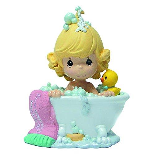 [Precious Moments Ornament ~ Little Girl in Bathtub with Bubbles & Rubber Duckie!] (Precious Moments Bath)