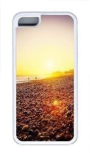 Brighton Beach Sunset Custom iPhone 5C Case Cover TPU White