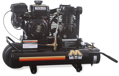 Mi T M Am1 Pr07 08M Portable Air Compressor  8 Gallon  Single Stage With Gasoline