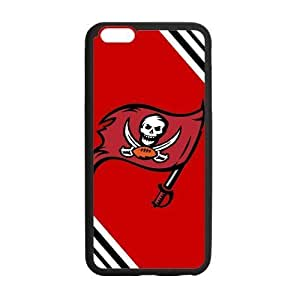 Black and White Chevron Tampa Bay Buccaneers Large Logo Case For Iphone 6 Plus (5.5 Inch) Cover Shell (Laser Technology)
