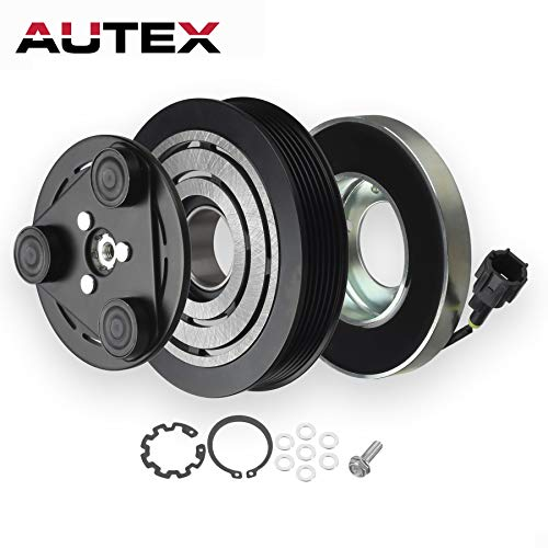 AUTEX AC A/C Compressor Clutch Coil Assembly Kit 92600CA02A CO 10874JC 5512221 Replacement For NISSAN ALTIMA 2002 2003 2004 2005 2006 3.5L, Compatible With NISSAN MAXIMA 2003 2004 2005 2006 -