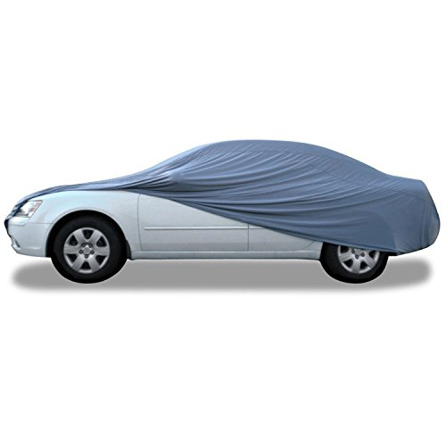 "Budge GSC-3 Indoor Stretch Car Cover Gray Size 3: Fits up to 16'8"" Luxury Protection, Soft Inner Lining, Breathable, Dustproof"
