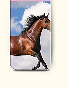 OOFIT Apple iPhone 6 Case 4.7 Inches - Brown Horse in the Grassland