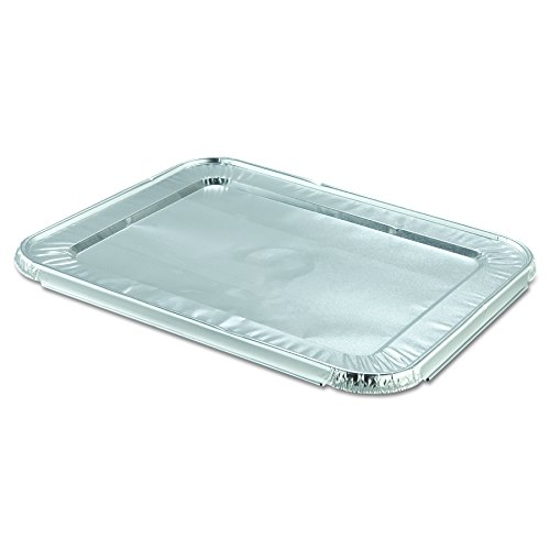 Handi-Foil of America 204900 Steam Table Pan Foil Lid, Fits Half-Size Pan, 10 7/16w x 12 13/16d (Case of (America Steam Table Pans)