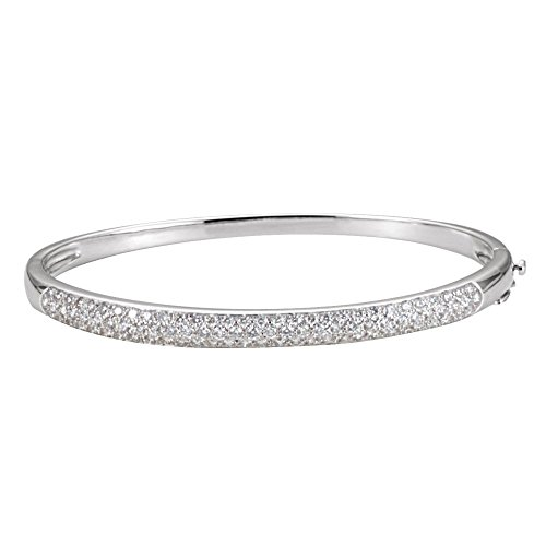 1.50 CTTW Diamond Bangle Bracelet In 14K White Gold by Eternity Wedding Bands