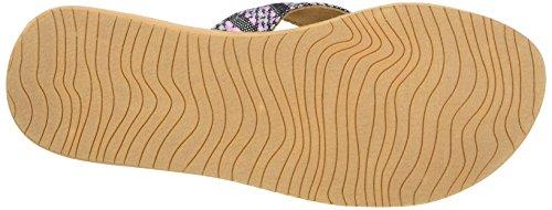 Reef Cushion Threads Tx, Sandalias para Mujer, Negro (Black/Multi), 35 EU