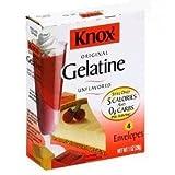 Knox Original Gelatine Unflavored - 1 oz. box (4 individual powder gelatin envelopes)