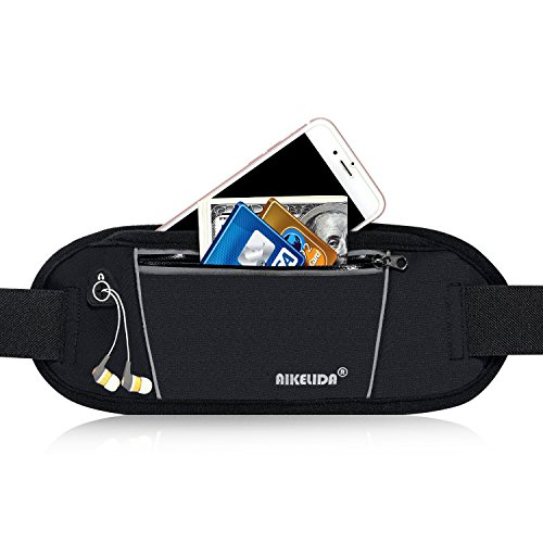 AIKELIDA Running Belt/Fanny Pack/Fitness Belt/Waist Pack for iPhone, Samsung Edge/Note / Galaxy - Men, Women during Sports Fitness, Running, Cycling, Hiking, Travel, Workout