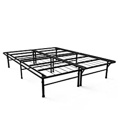 The Next Generation Bed Frame - The Deluxe Smartbase Mattress Foundation by Zinus is a complete mattress foundation solution for spring, latex, and memory foam mattresses. The strong metal Platform Bed Frame eliminates the need for a box spri...