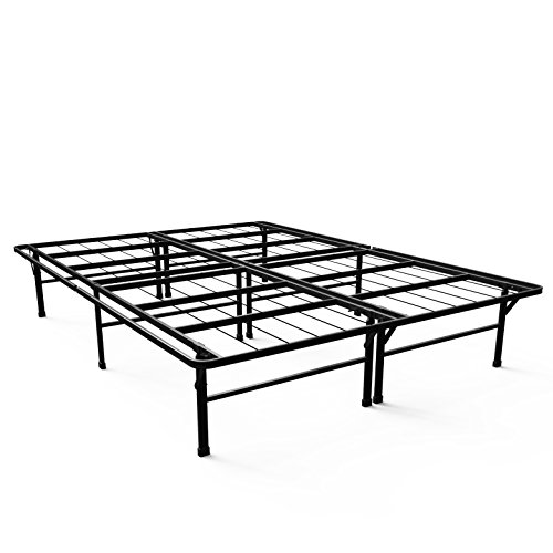 zinus 14 inch smartbase deluxe mattress foundation platform bed frame box spring replacement queen