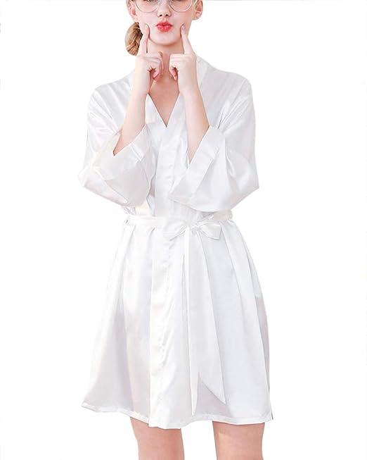 Camisones Dama De Honor Sexy Batas Y Kimono con Cinturón ...