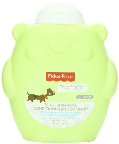 69aed397d Fisher-Price para niños pequeños 3-en-1 Shampoo, Acondicionador y Body  Wash, 12 onza líquida: Amazon.es: Bebé