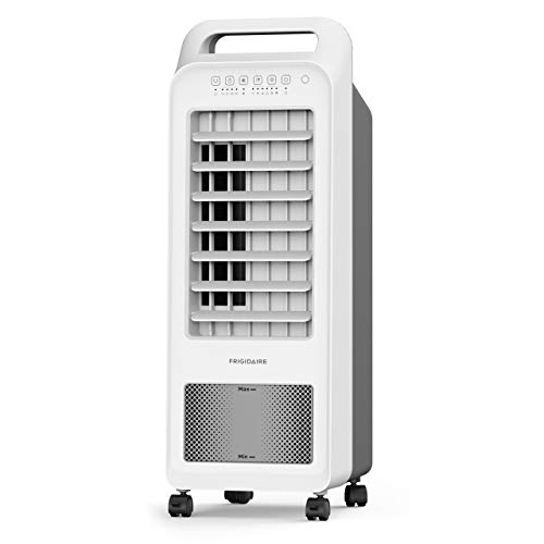 (FRIGIDAIRE Portable Evaporative Air Fan Cooler and Humidifier with 1.5 Gallon Tank, Remote Included, 2-in-1 Compact Design, EC100WF, White)