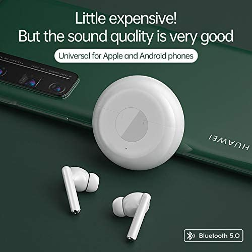 Explore Sport Bluetooth 5.0 Wireless Earbuds, 30H Playtime TWS Stereo Bluetooth Wireless Headphones for iPhone Android with Charging Case, in-Ear Earphones Headset for Huawei/iPhone BLACK pCm6sb2