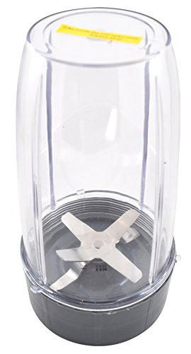 Nutribullet Blender 32 oz Tall Cup with Blade | One Large Premium Boder Plastic Replacement Container for Pro 900 Watt or 600 Blenders by Boder