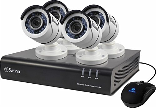 Swann DVR8-4350 4 Channel Analog 720p Digital Video Recorder, White/Black (SWDVK-443504-US)