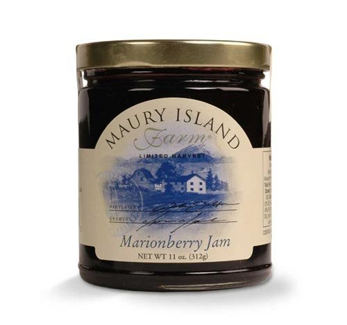 Maury Island Limited Harvest Marionberry Jam, 11 oz Jar in a Gift Box by Black Tie Mercantile