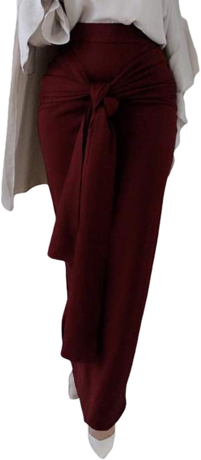 Hibote Mujer Lace-up Falda Larga Vintage Elegantes Maxi Falda Alta ...