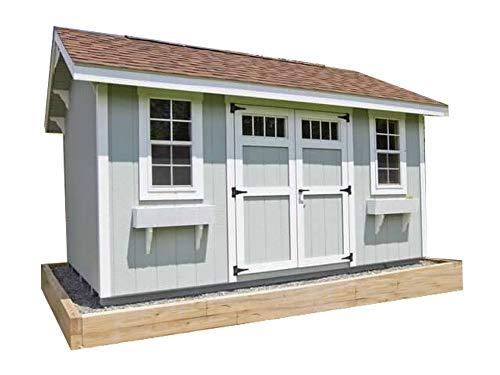 (Saltbox Roof Storage Shed Plans DIY Backyard Garden Shed Barn Building 10'x20')